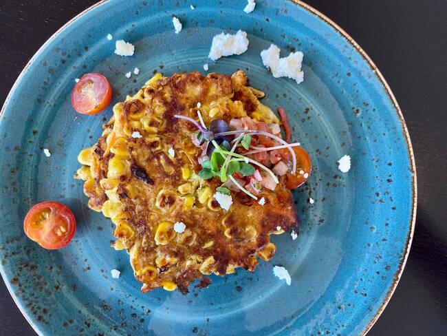 Recette Galettes au maïs et au chorizo, méli melo de crudités