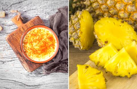 Recette de Crème brûlée et ananas frais
