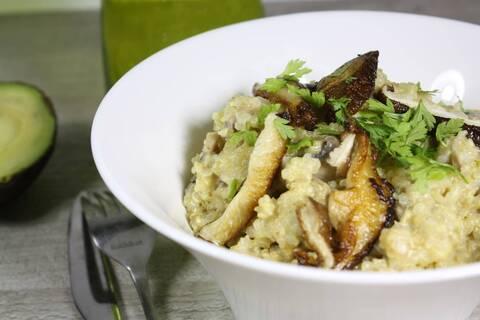 Recette de Risotto de quinoa aux champignons et pecorino (SG)