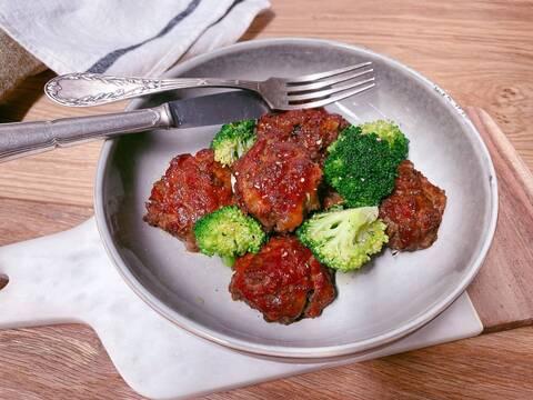 Recette de Boulettes de meatloaf façon R&C, brocolis (SG)