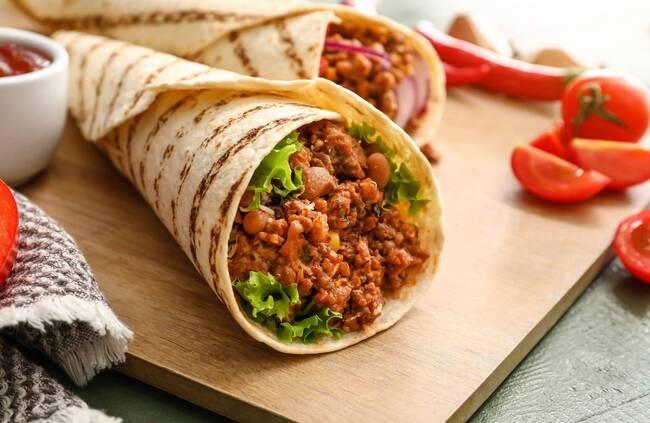 Recette Tortillas au bœuf haché et aux tomates