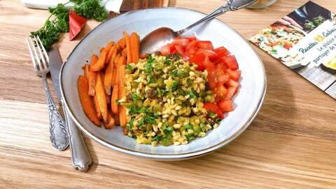 Recette de Mélange de céréales aux petits légumes