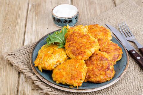Recette de Paillasson de potiron-pommes de terre, coleslaw (SG)