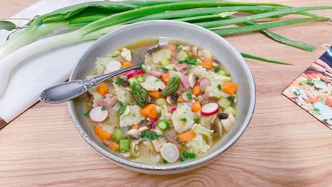 Recette Ravioles aux petits légumes de saison