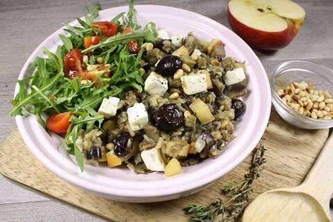 Recette de Buddha bowl aux aubergines à la méditerranéenne (SG)