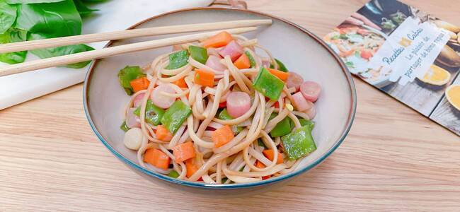 Recette Wok de légumes, nouilles soba