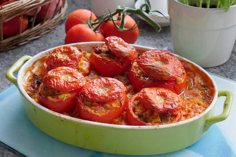 Recette Tomates farcies façon grand-mère - Riz basmati (SG)