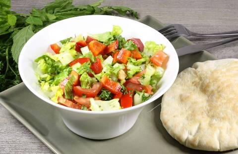 Recette Salade libanaise - Pain pita
