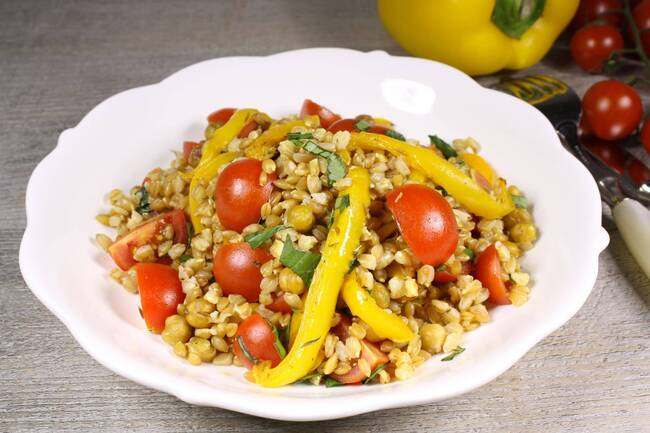 Recette Salade estivale de petit épeautre aux épices douces