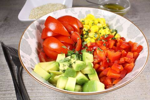 Recette de Buddha bowl des Incas quinoa-légumes (SG)
