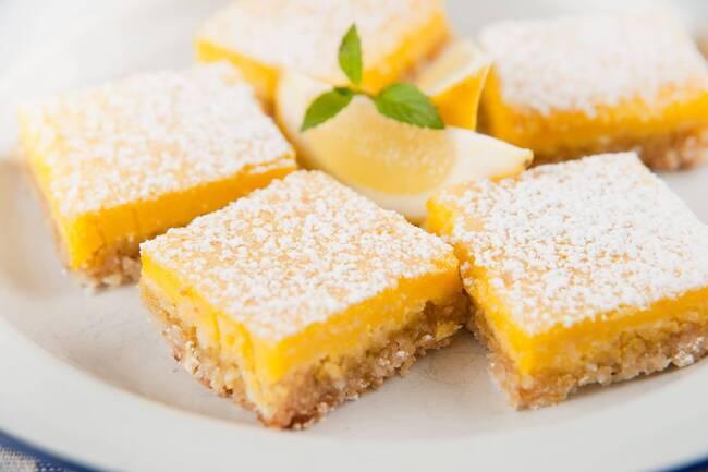 Recette Carrés citron crousti-fondant au tofu soyeux
