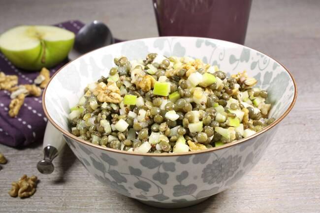 Recette Salade de lentilles à l'auvergnate - Oeufs mollets (SG)