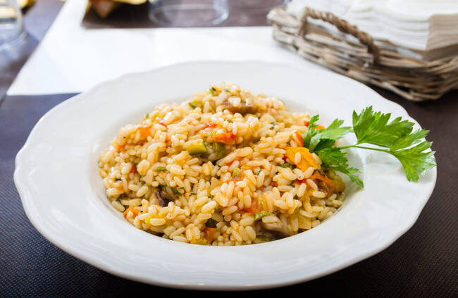 Recette Risotto aux légumes (SG)