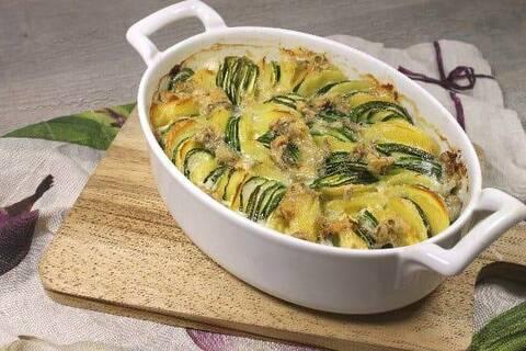 Recette Tian de courgettes au gorgonzola - Radis (SG)