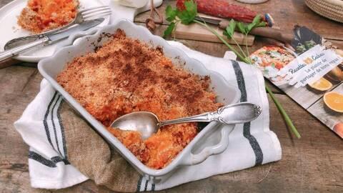 Recette Crumble de butternut au parmesan - Salade