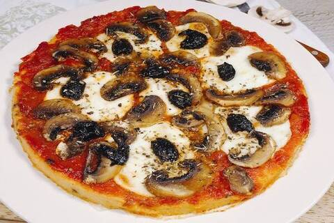 Recette Galettes de polenta façon pizza - Salade (SG)