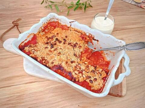 Recette Crumble de tomates - Panisse poêlé