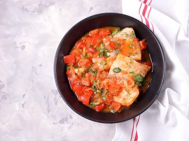 Recette Filets de lingue à la sauce tomate, poêlée de légumes champêtre (SG) Express