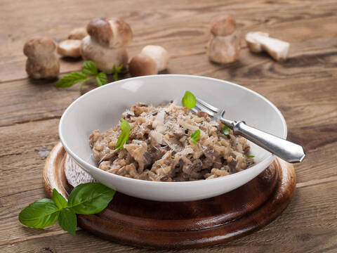 Recette de Risotto aux cèpes - salade verte