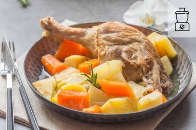 Recette Pot au feu express de poulet