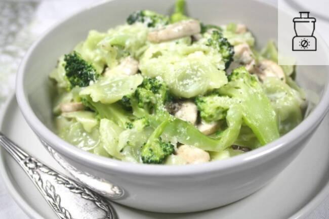Recette Ravioles aux brocolis et crème