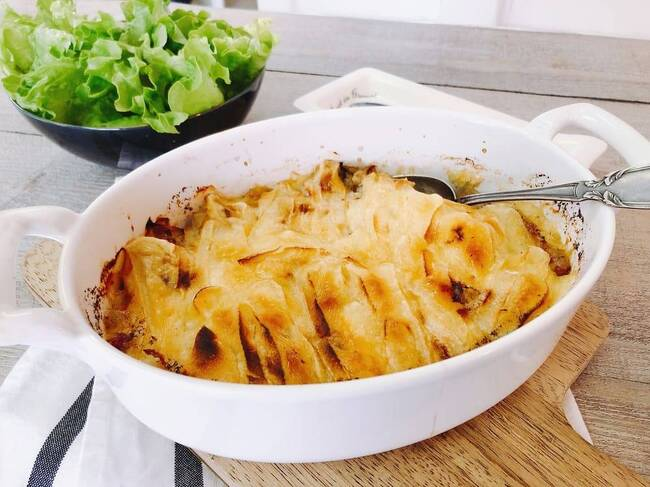 Recette Endiveflette, pommes de terre au four