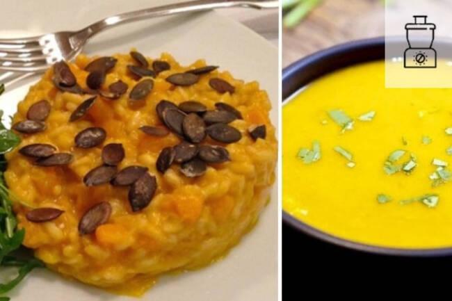 Recette Risotto au potimarron, soupe du marché