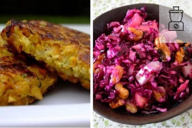 Recette Galettes de céréales et salade de chou rouge