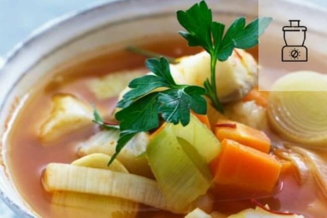 Recette Soupe de poisson aux légumes