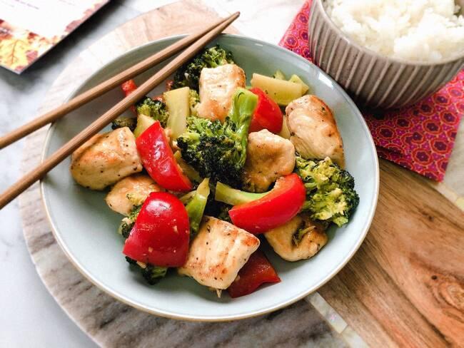 Recette Sauté de dinde teriyaki aux légumes