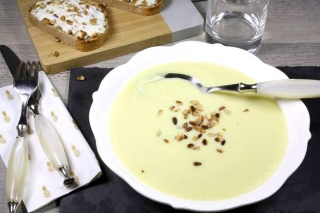 Recette Crème Dubarry au tofu, tartines de fromages