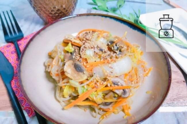 Recette Shirataki (vermicelles) aux légumes sautés