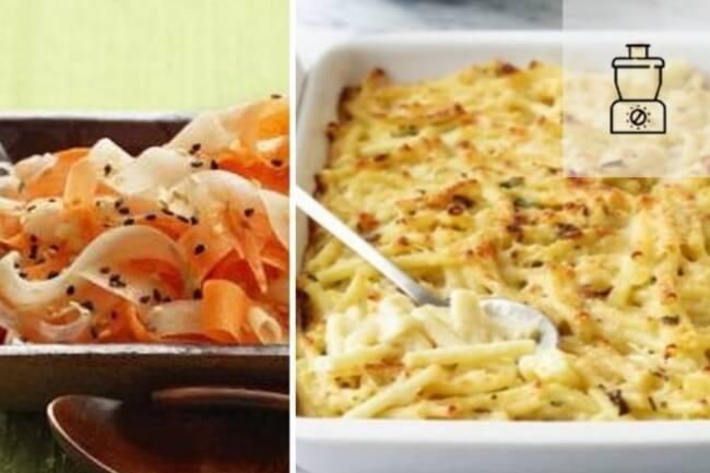 Recette Gratin de macaronis, salade 3 couleurs