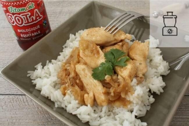 Recette Poulet au cola, riz