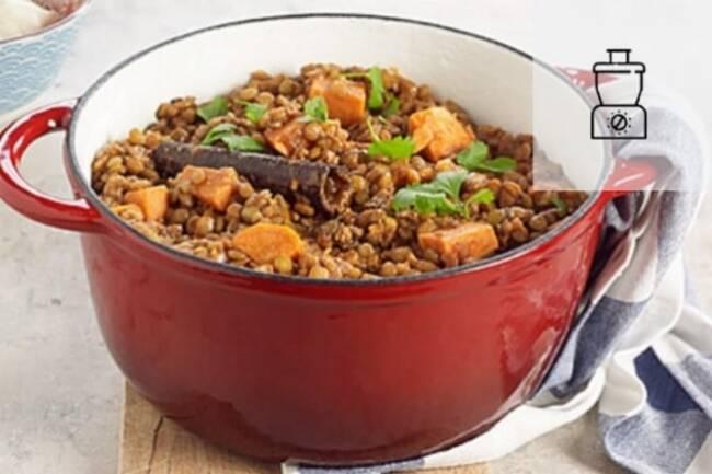 Recette Chili de lentilles aux légumes d'hiver