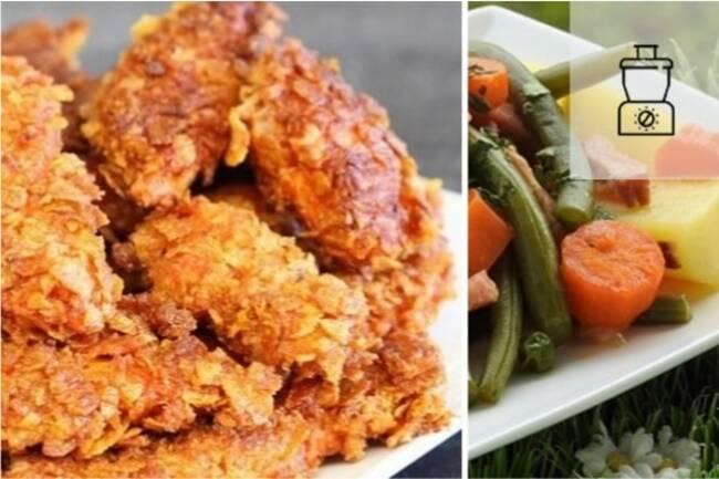 Recette Nuggets poulet maison, jardinière de légumes