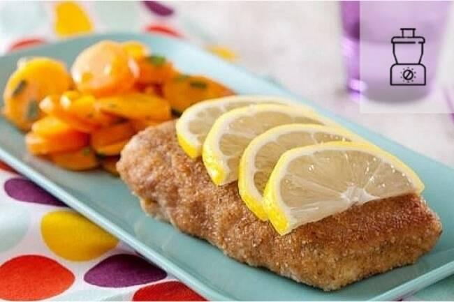 Recette Filet de poisson pané maison, carottes Vichy