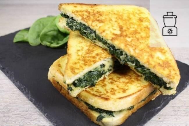 Recette Croque épinards et ricotta - Salade d'endives