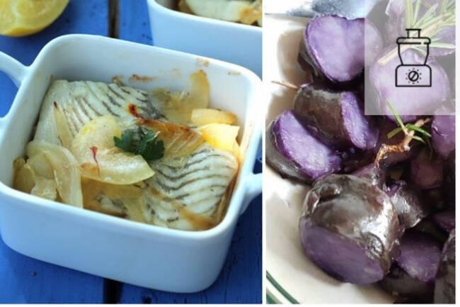 Recette Filets de carrelet, pommes de terre vitelotte