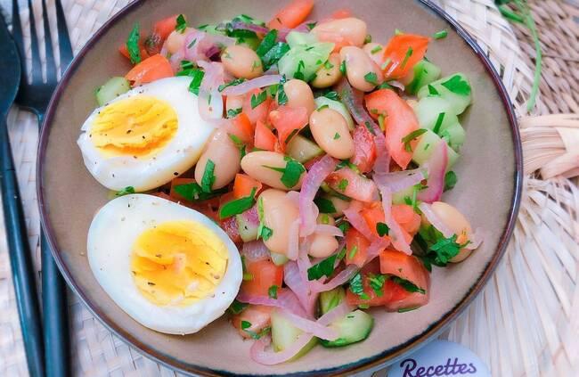 Recette Salade d'haricots blancs à la turque