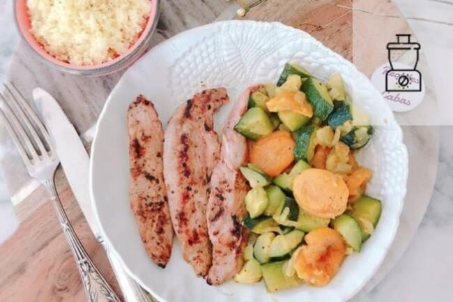 Recette Aiguillettes de canard, abricots et courgette