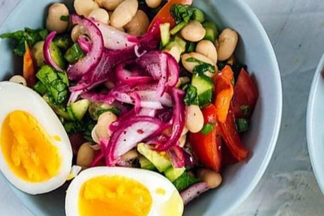 Recette Salade de haricots blancs à la turque
