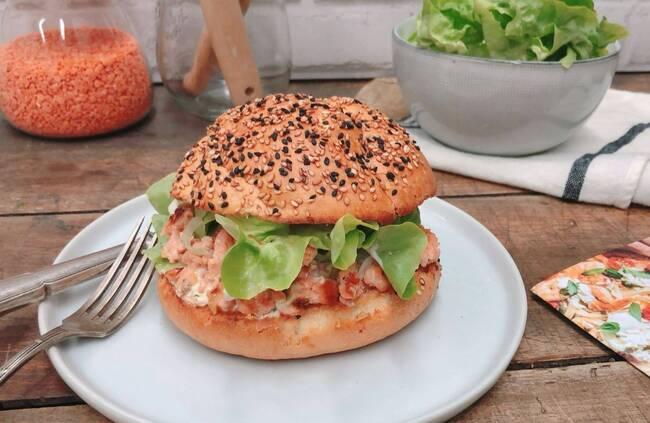 Recette Burger aux deux saumons