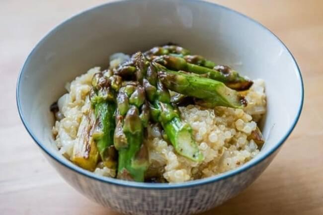 Recette Risotto de quinoa aux asperges