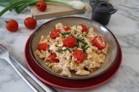Recette de Spaetzle aux tomates cerises