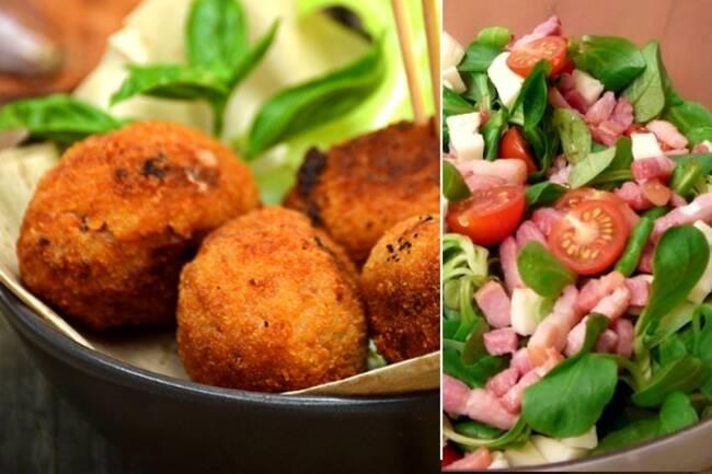 Recette Salade complète de quenelles panées