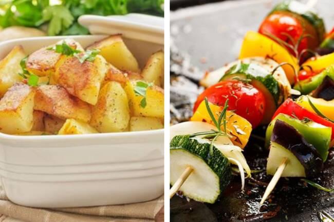 Recette Brochette de légumes, pommes de terre