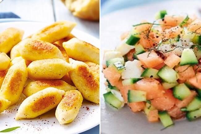 Recette Salade fraicheur melon-concombre-feta, gnocch