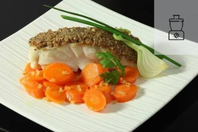 Recette Dos de cabillaud poché aux carottes