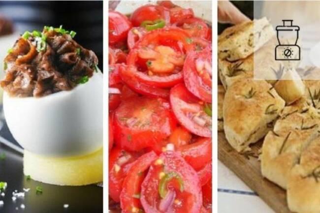 Recette Méli mélo de tomates,  œufs à la tapenade